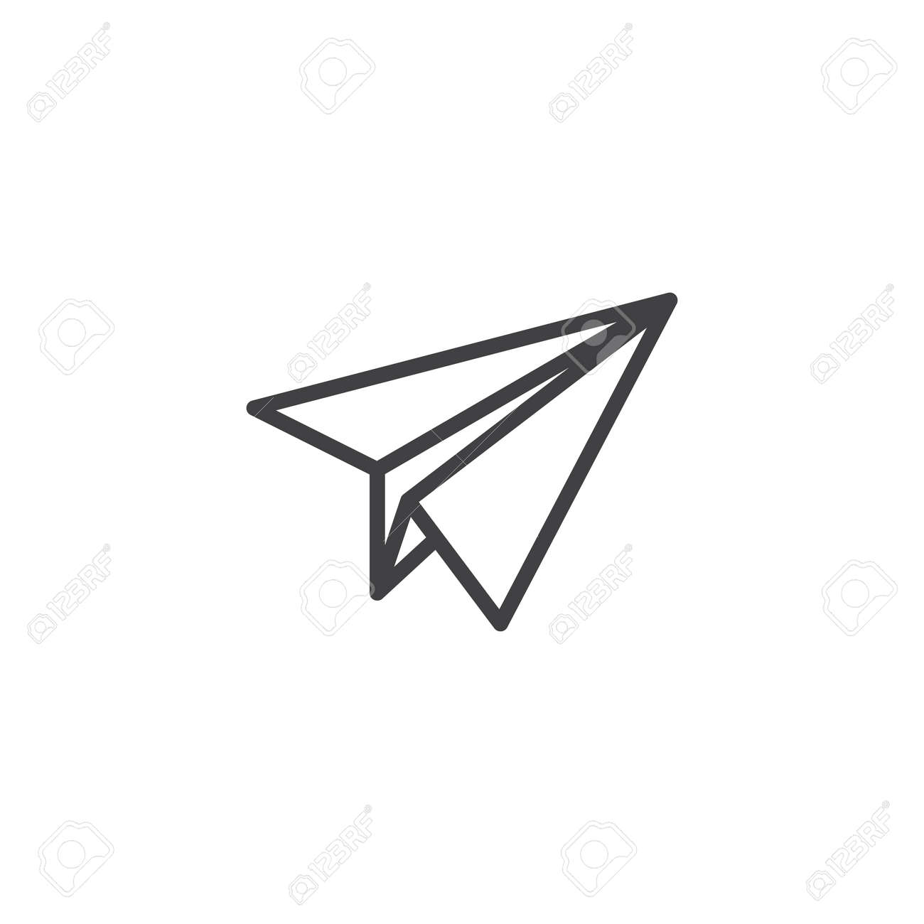 Paper Plane Outline Icon Linear Style Sign For Mobile Concept