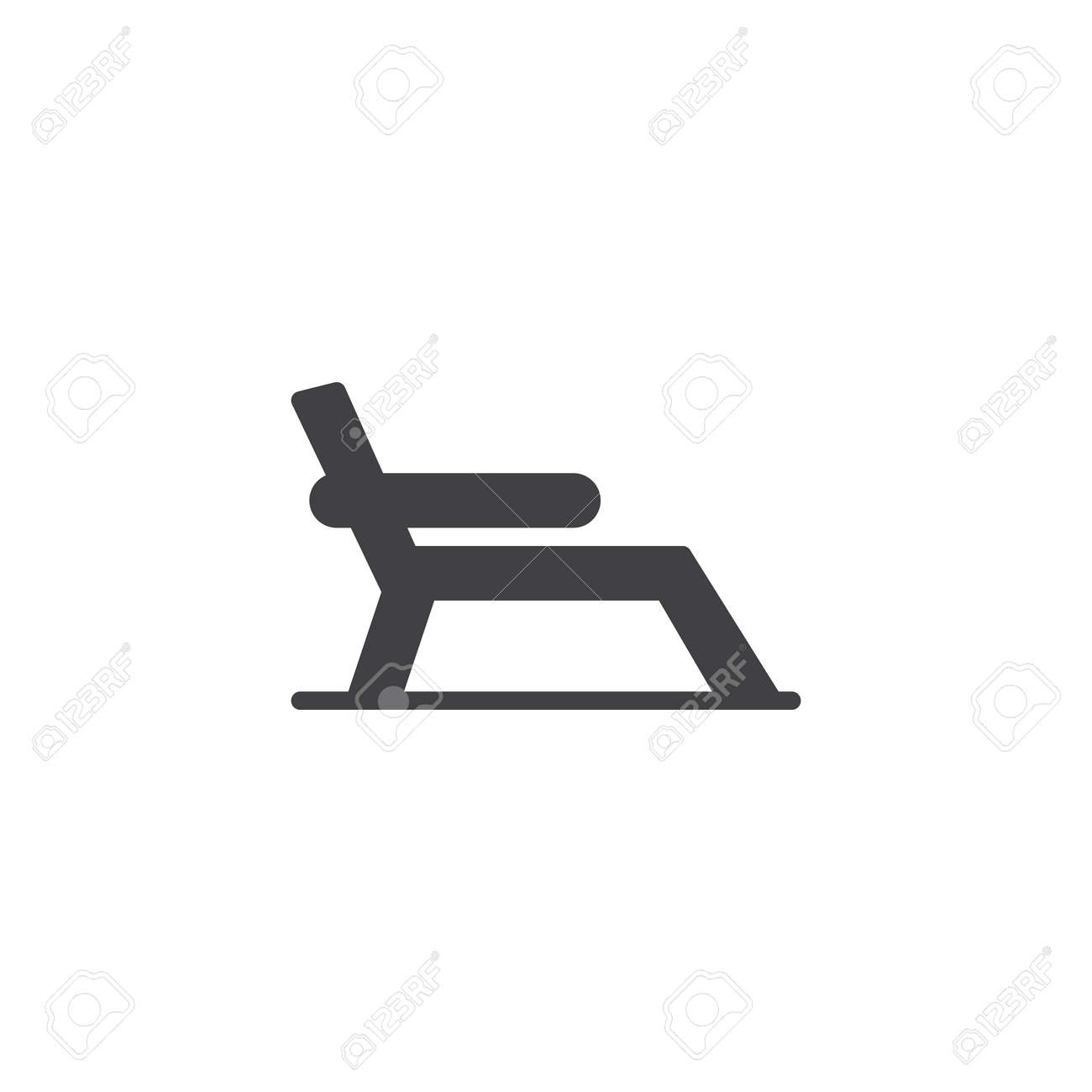 Beach Chair Vector Icon Filled Flat Sign For Mobile Concept Royalty Free Cliparts Vectors And Stock Illustration Image 102187526