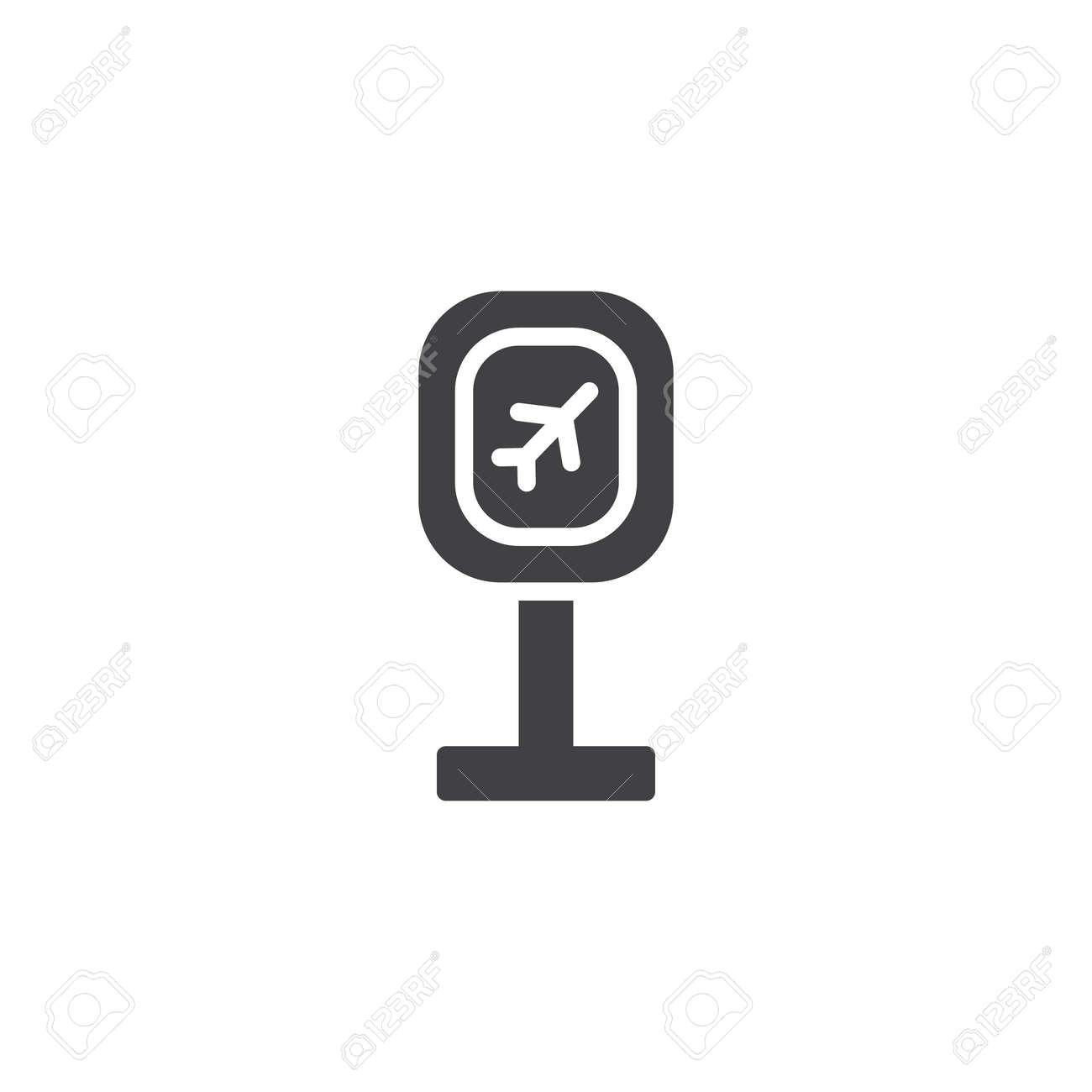 Airport Departure Zone Sign Vector Icon Filled Flat Sign For Royalty Free Cliparts Vectors And Stock Illustration Image 103759805