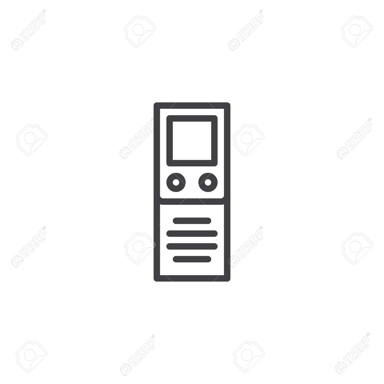 Digital Dictaphone outline icon  linear style sign for mobile
