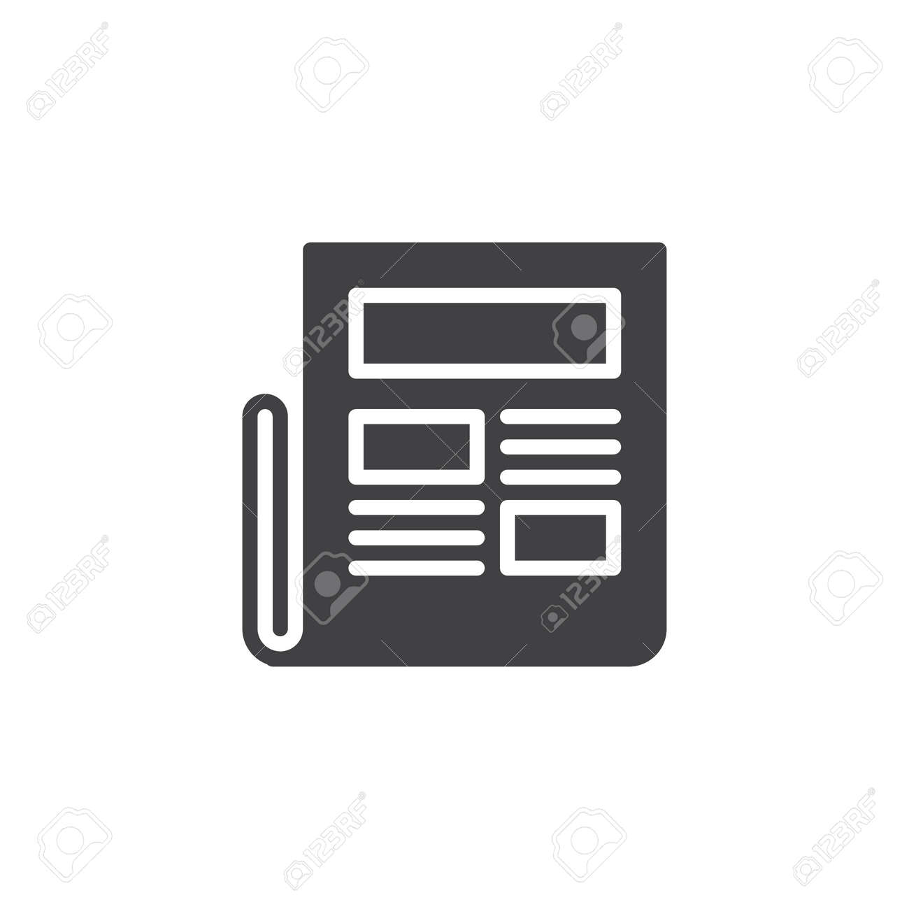 newspaper vector icon. filled flat sign for mobile concept and