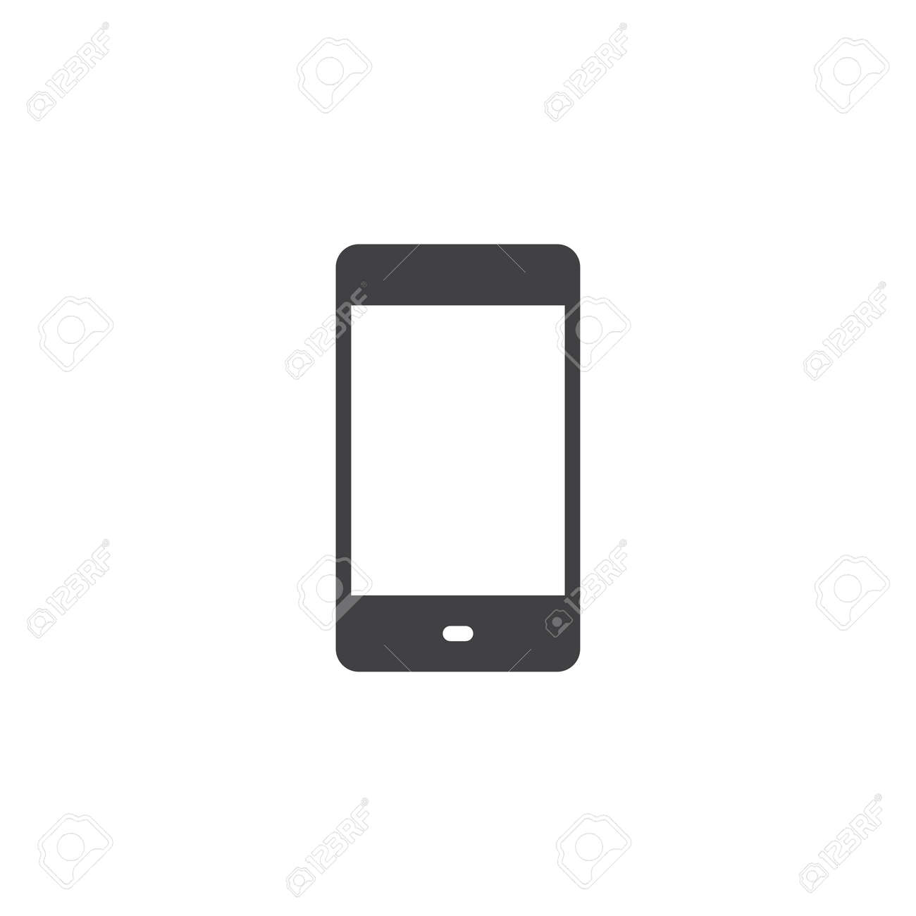 Mobile phone vector icon  filled flat sign for mobile concept