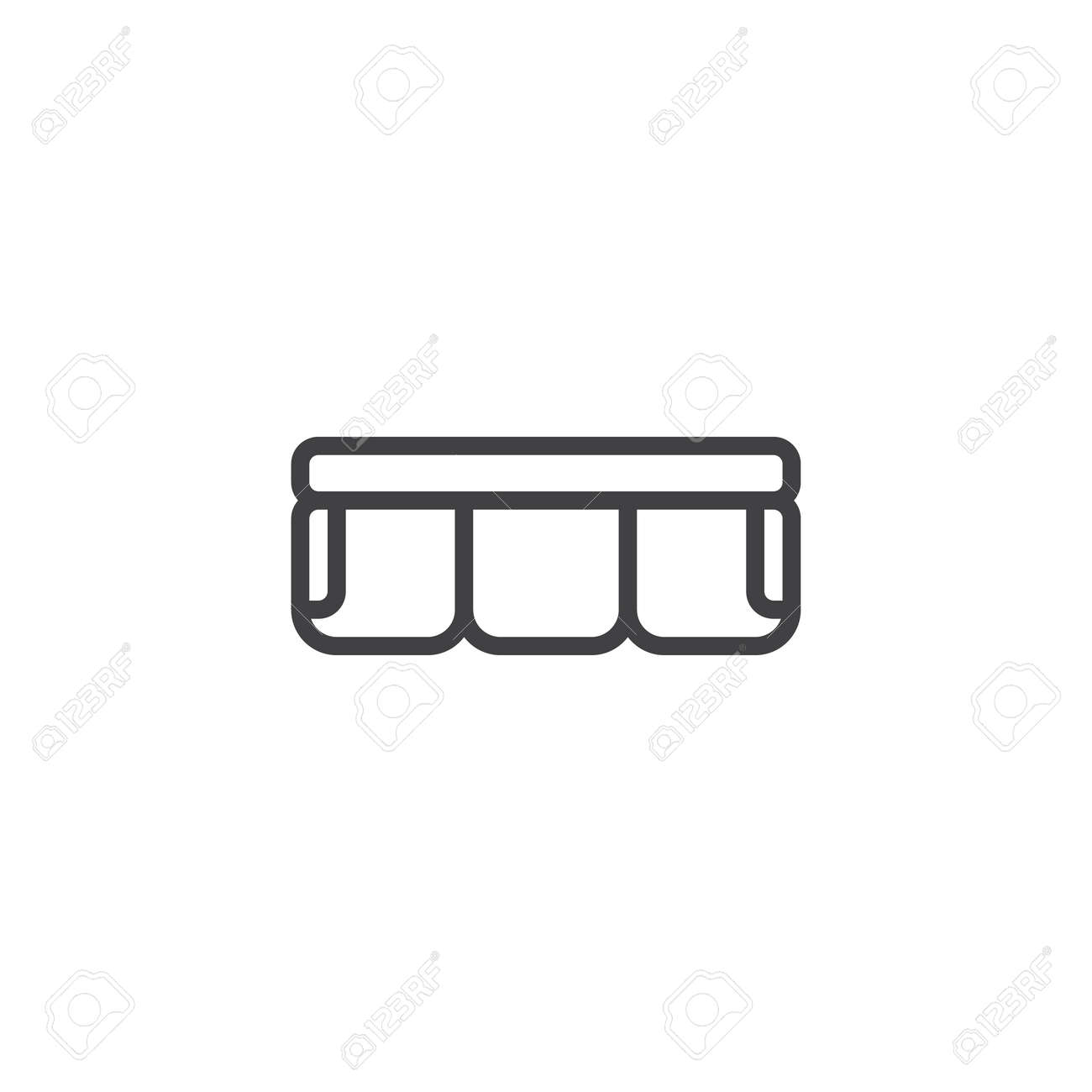 Sofa Top View Outline Icon Linear Style Sign For Mobile Concept