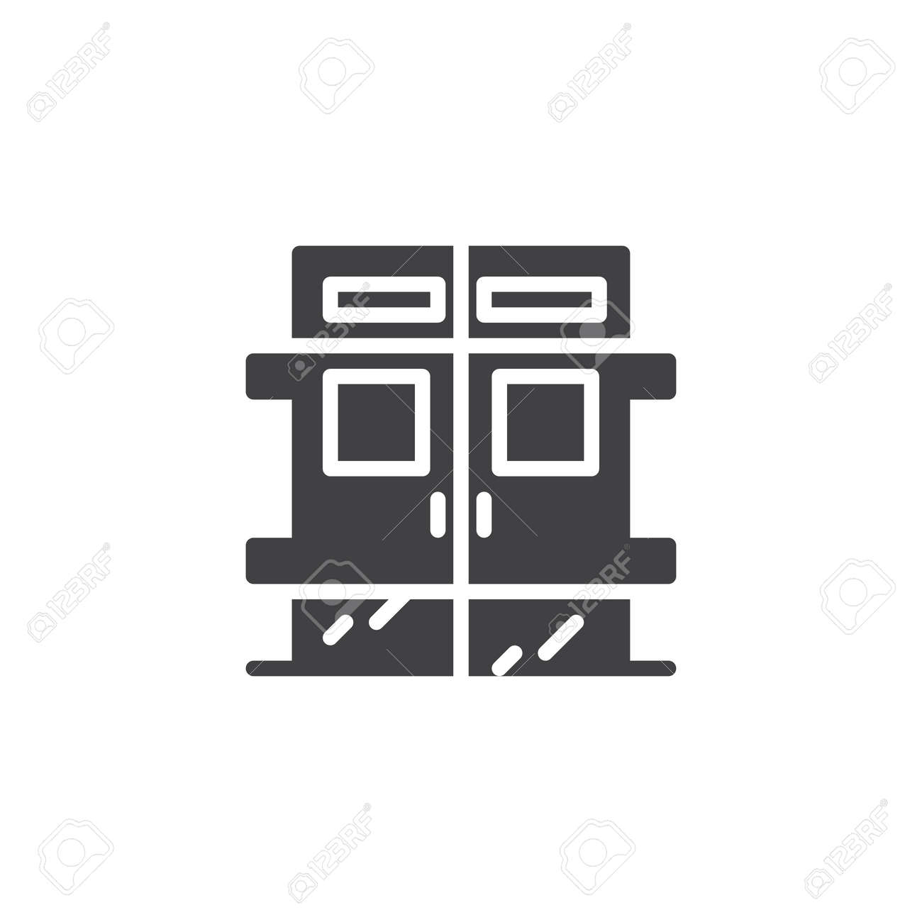 Hospital door vector icon  filled flat sign for mobile concept