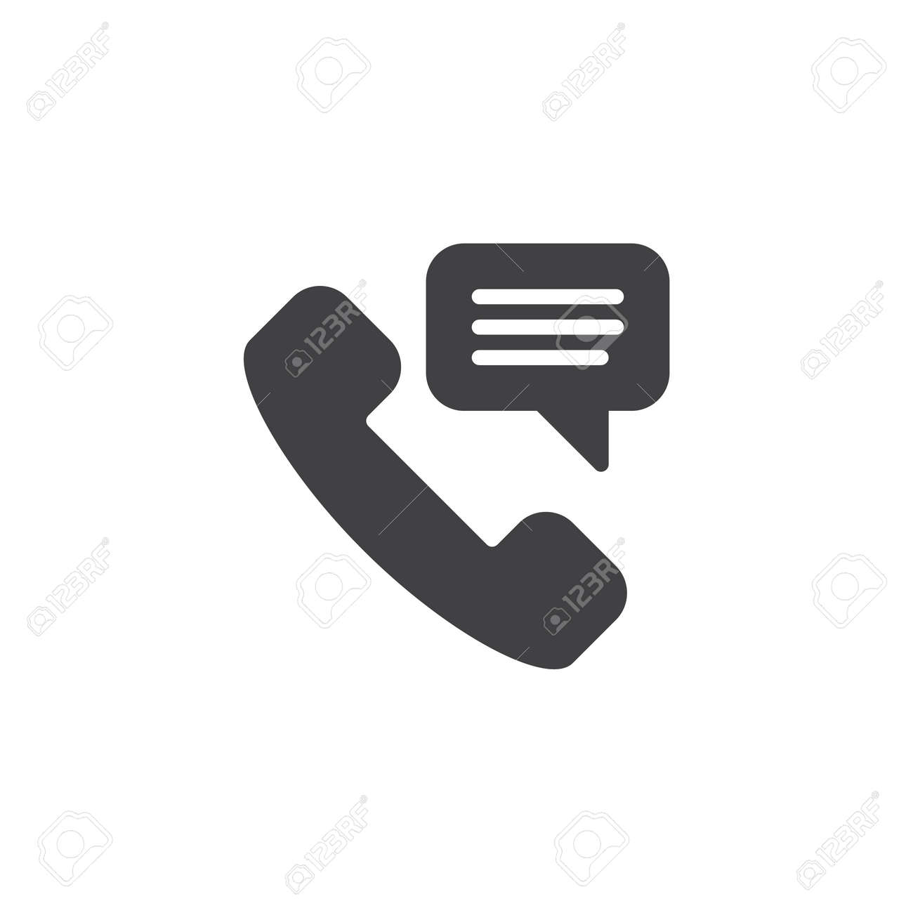 Custom service phone talk vector icon. filled flat sign for mobile concept and web design. Telephone receiver simple solid icon. Symbol, logo illustration. Pixel perfect vector graphics - 113928027