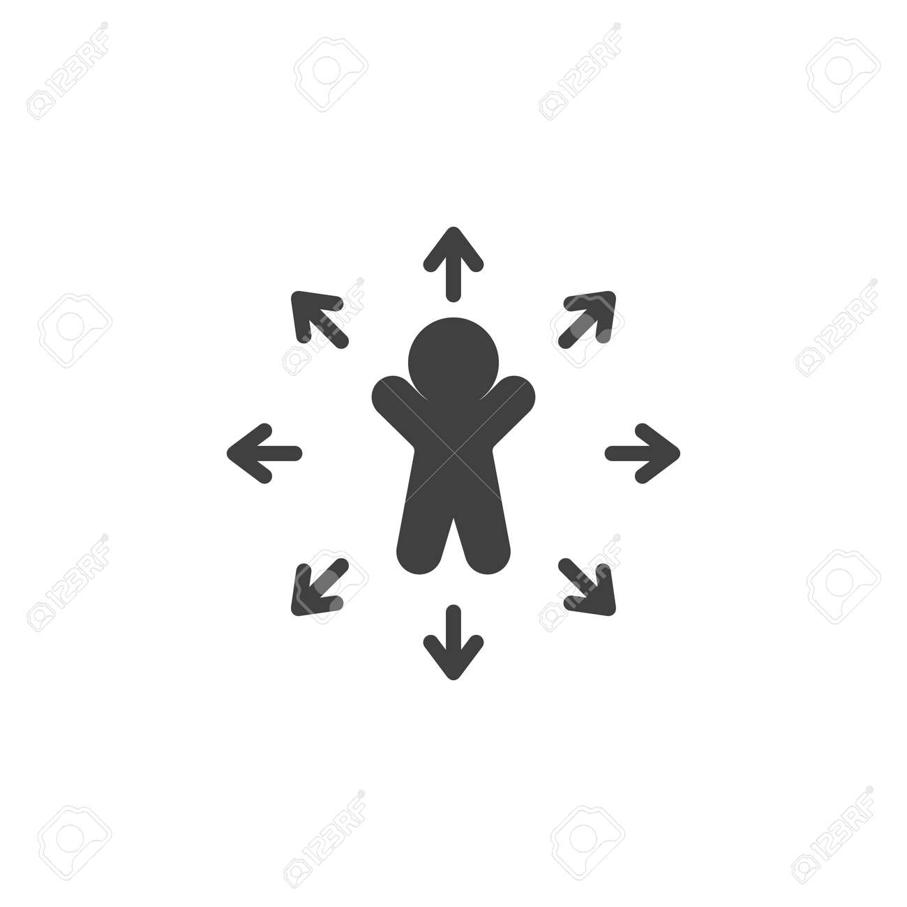 Decision Making Vector Icon Career Choice Filled Flat Sign For Royalty Free Cliparts Vectors And Stock Illustration Image 140898570