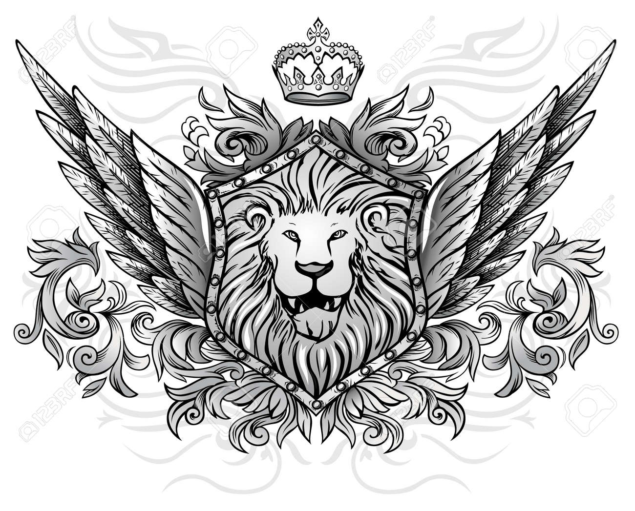 Vector - Winged Lion I...