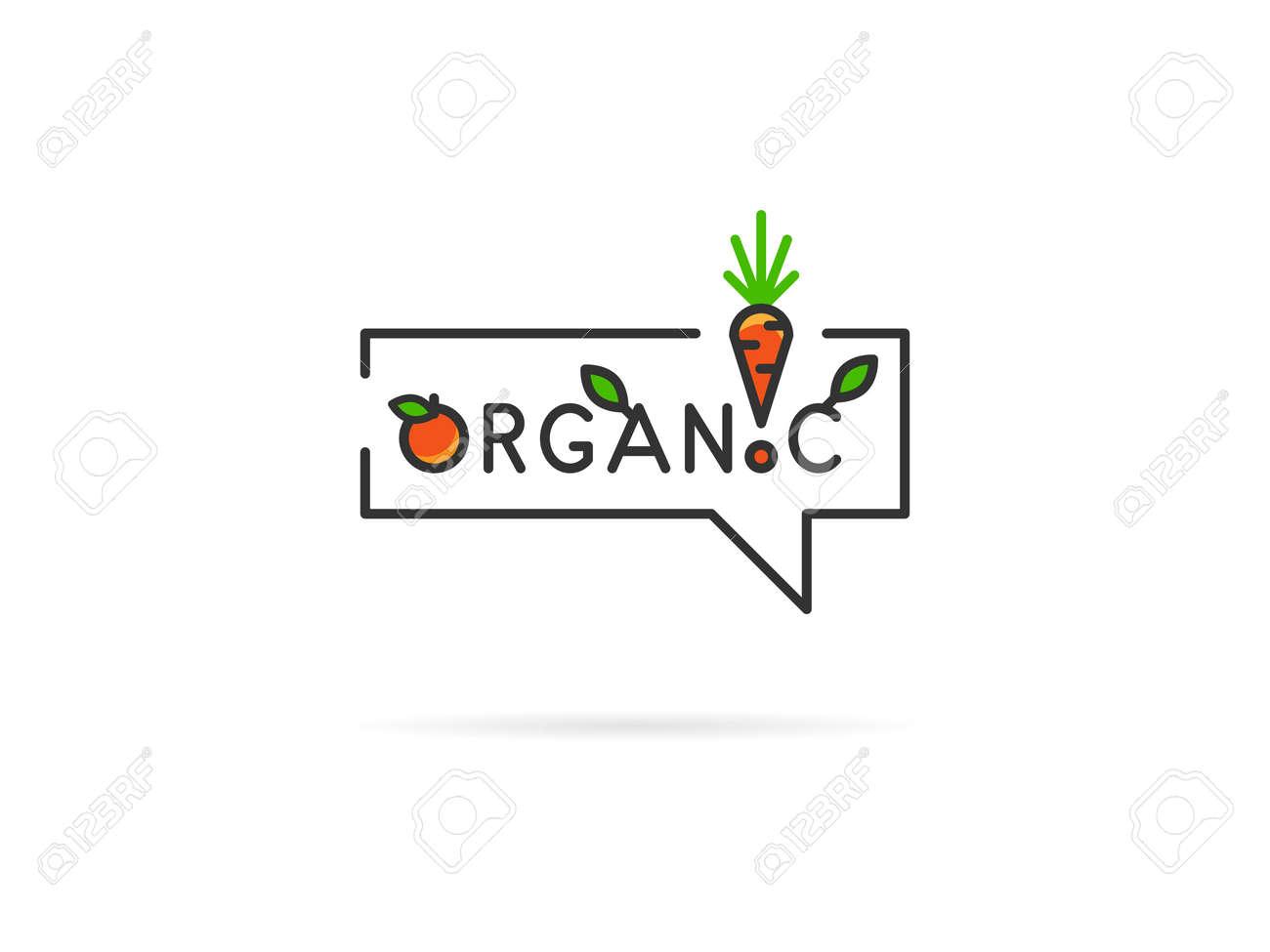 Ilustración Vectorial Lineal Orgánica Sobre Fondo Blanco. Orgánica ...
