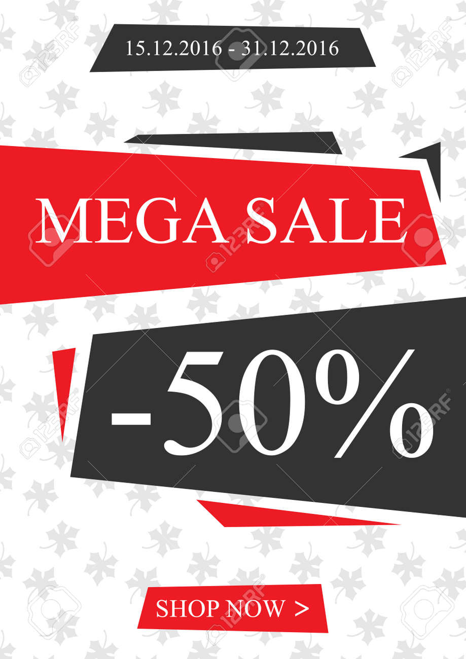 Vector Werbe Mega Sale Banner Für Online Shops Websites