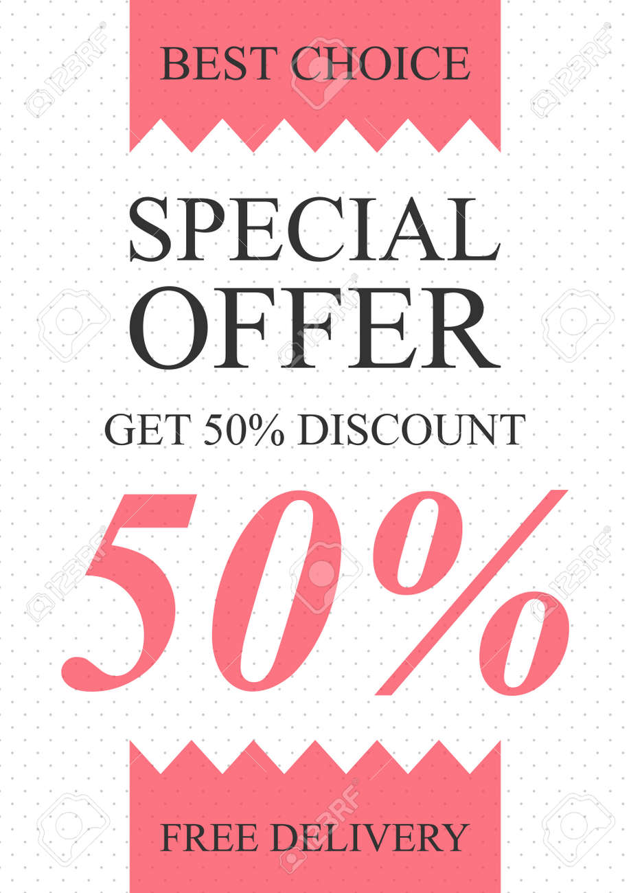 Vector Special Offer Banner For Online Stores Websites Retail Royalty Free Cliparts Vectors And Stock Illustration Image 64974045