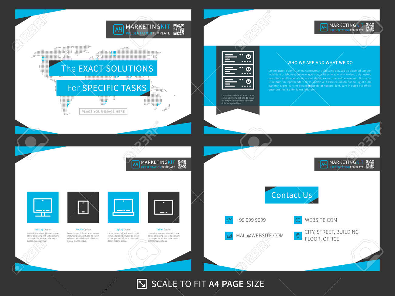 Corporate Presentation Vector Template Modern Business Presentation