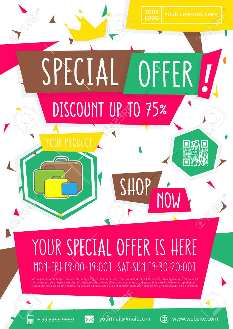 promotion banner special offer vector illustration advertising