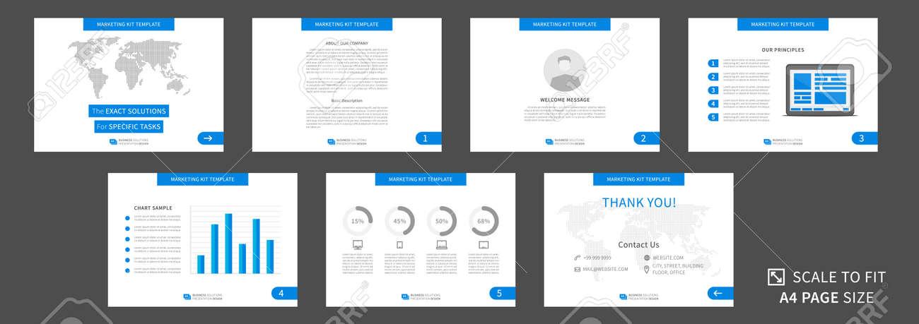 Marketing-Kit Präsentation Vektor-Vorlage. Moderne Business ...