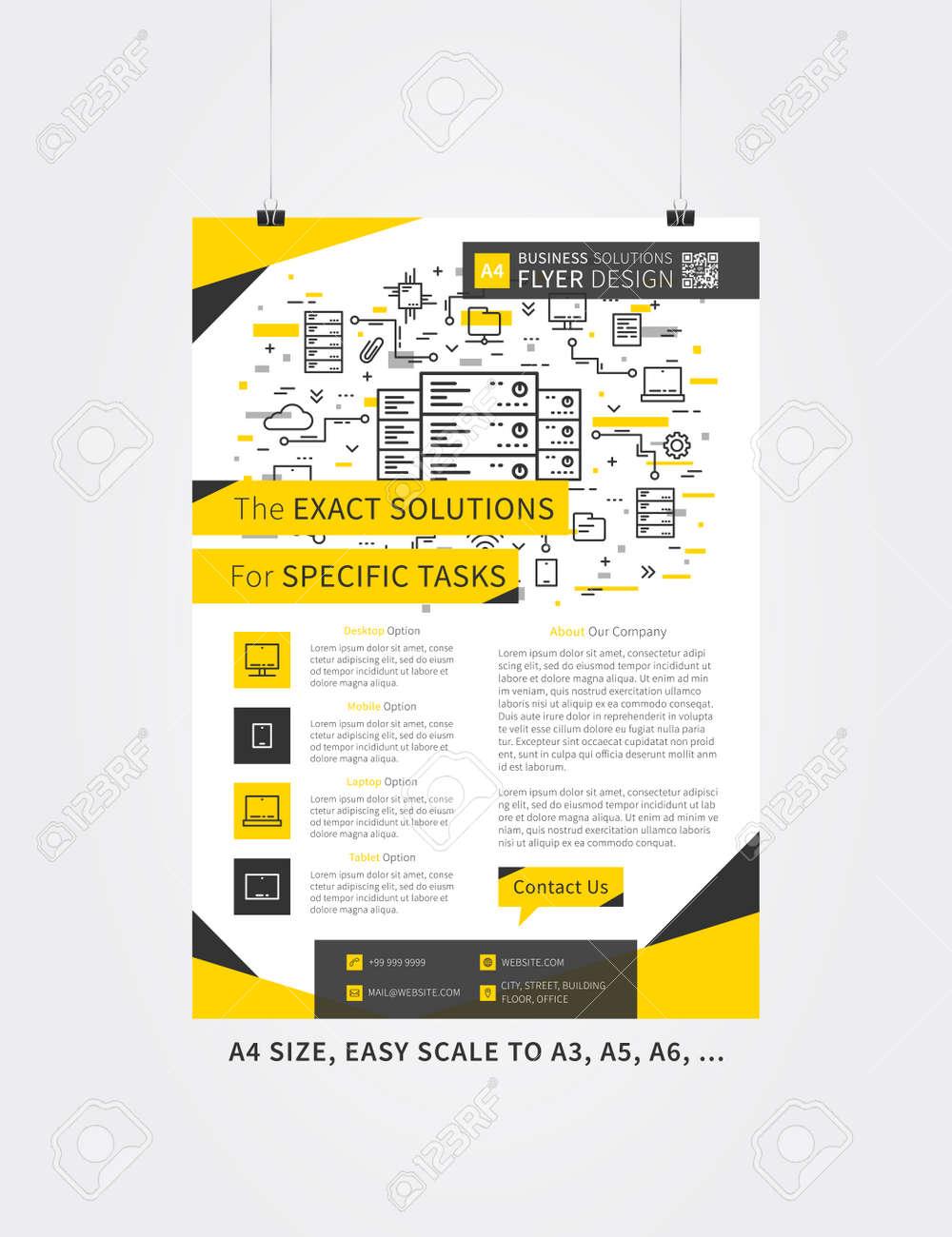 flyer layout vector illustration. simple leaflet poster template, Graphic Presentation Poster Template, Presentation templates