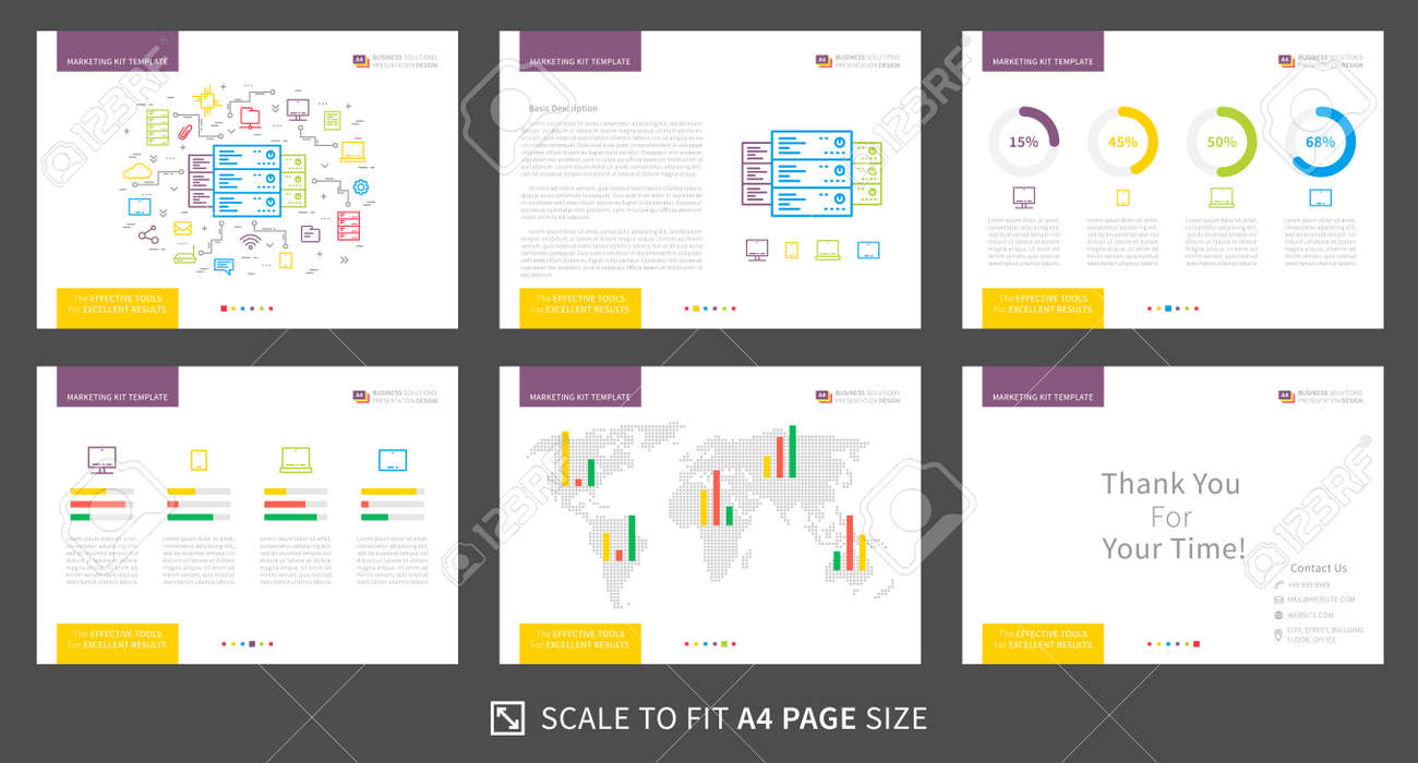 corporate presentation vector template modern business presentation graphic design power point layout with diagrams