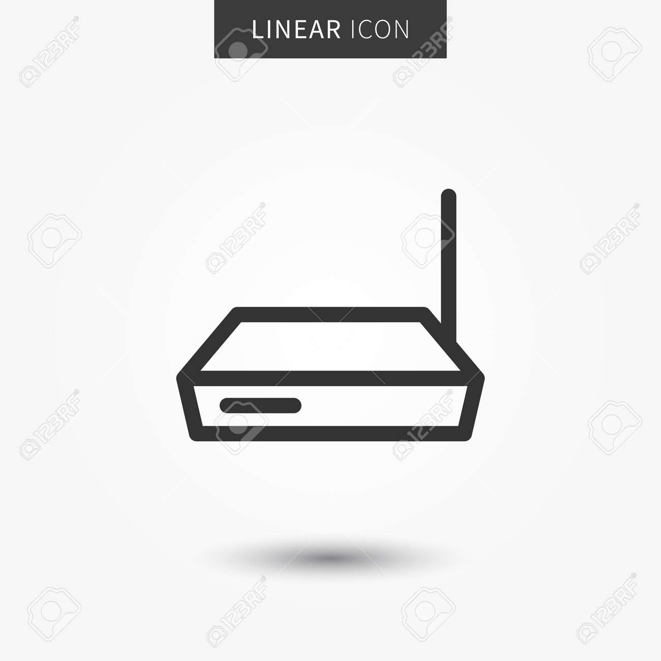 Router icon vector illustration  Isolated connection device symbol