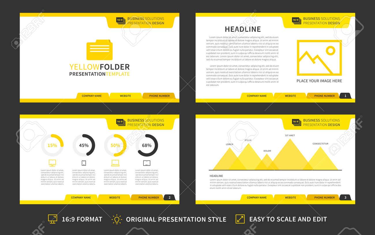 corporate presentation vector template modern business presentation