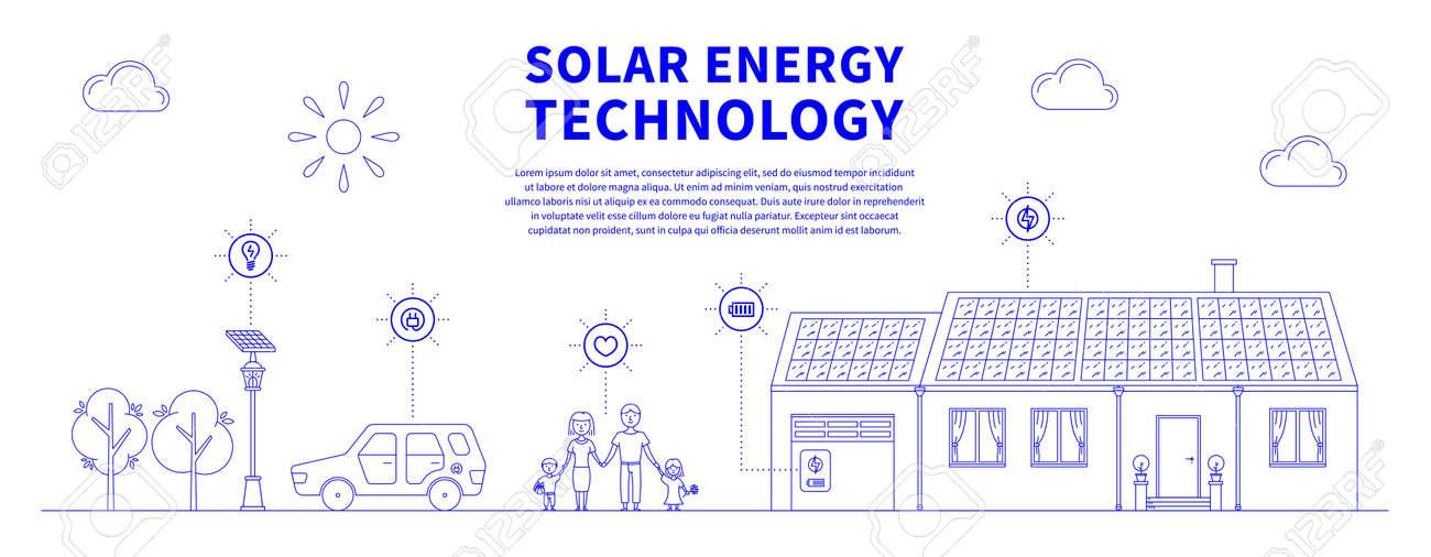 Solar Battery System >> Solar Battery System Vector Illustration Ecology Power Source