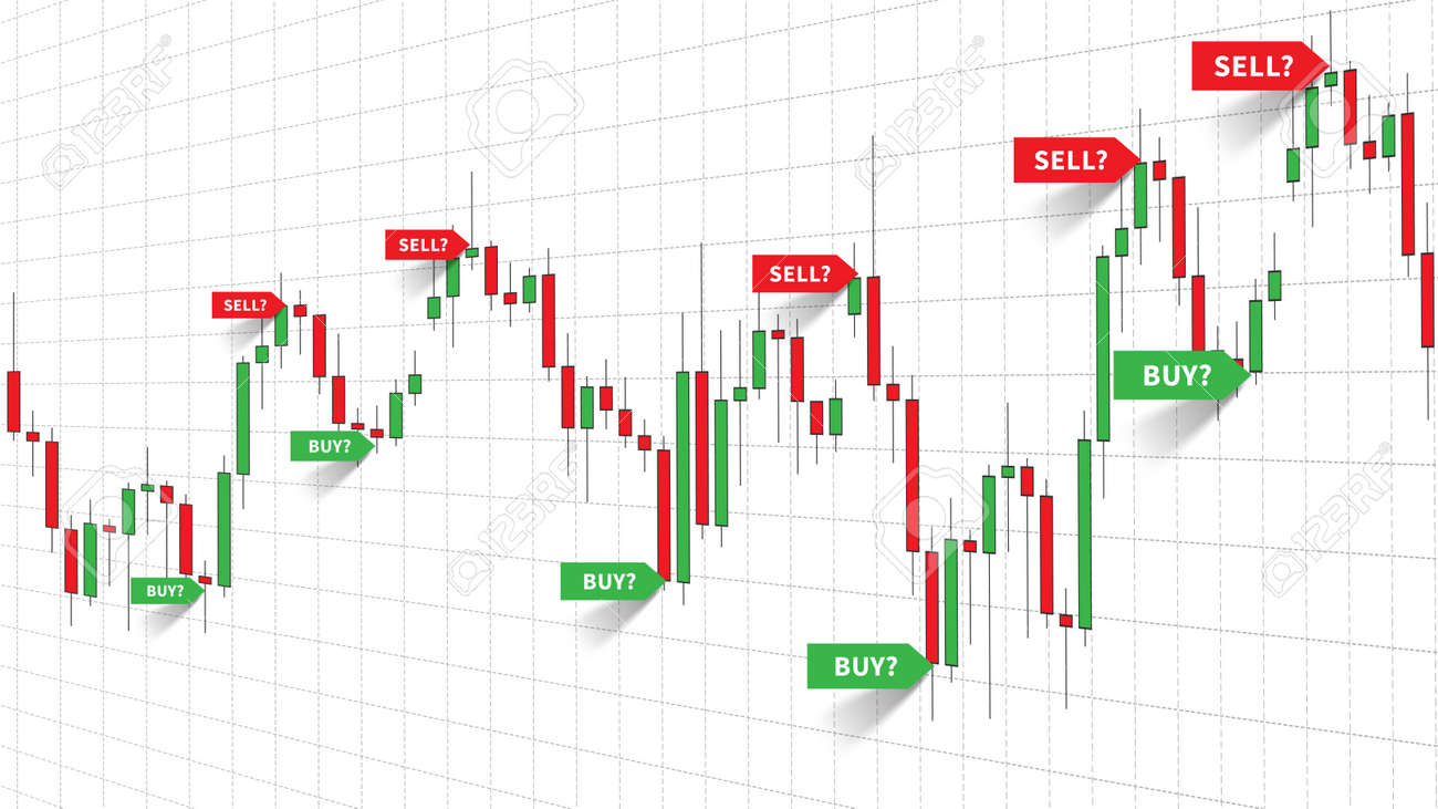 Forex Trade Signals Vector Illustration Buy And Sell Signals