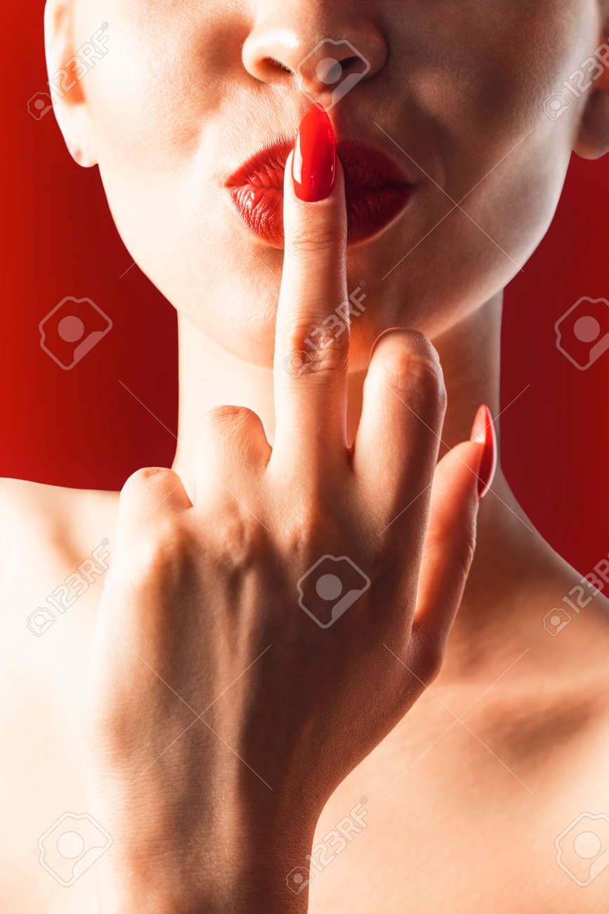 Sexy Finger In Mouth
