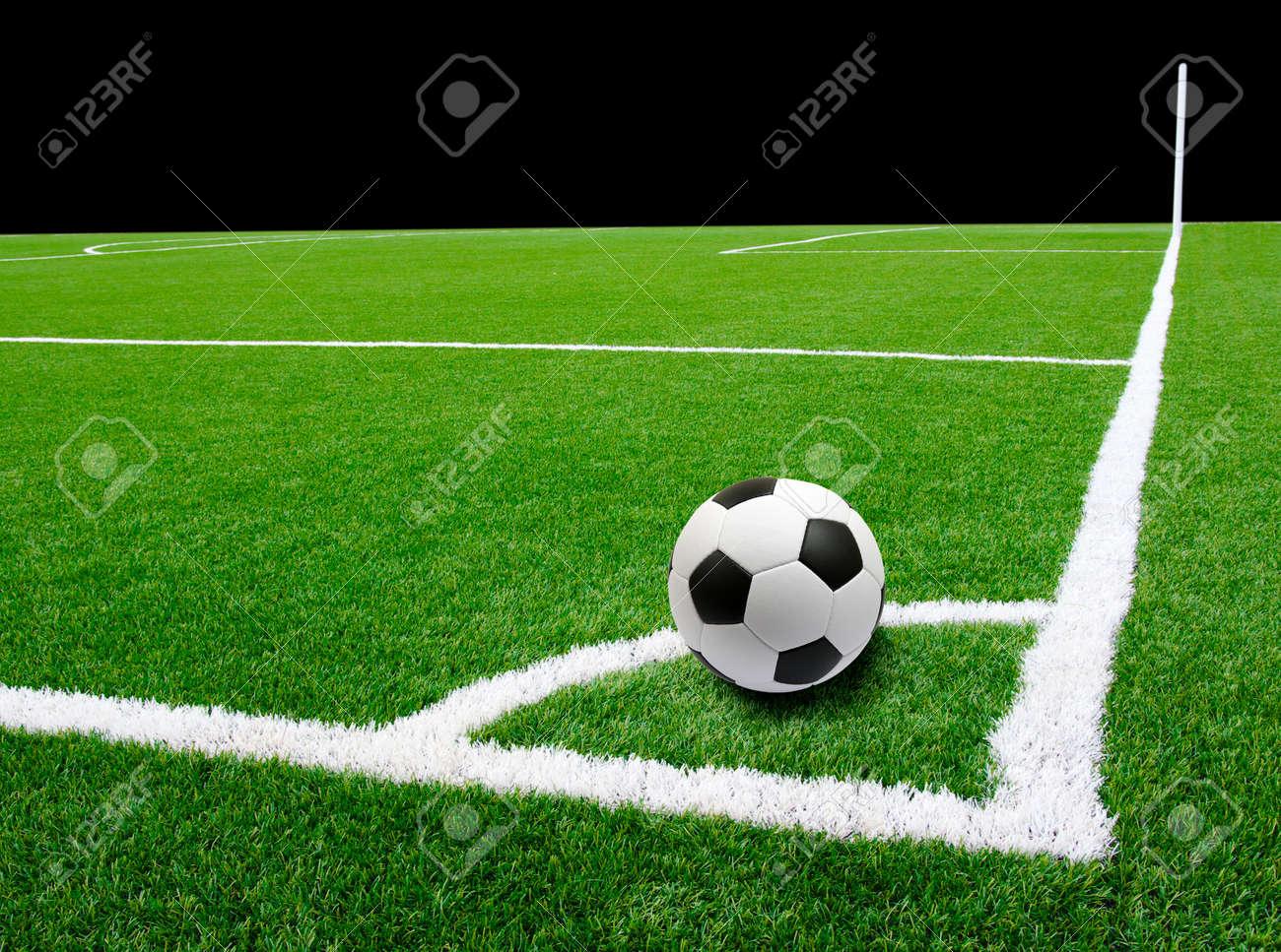 Soccer ball on the stadium Stock Photo - 13534771