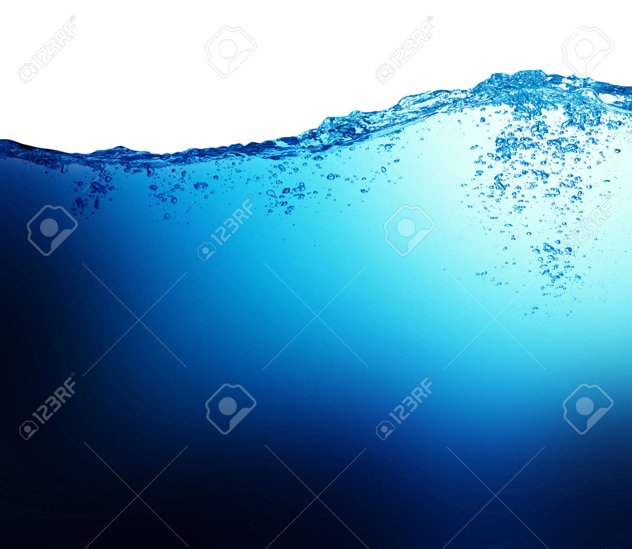 Water and air bubbles on white background Banque d'images - 36596494