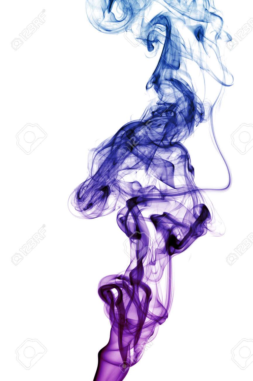 couleur fumée isolée sur fond blanc Banque d'images - 39649471