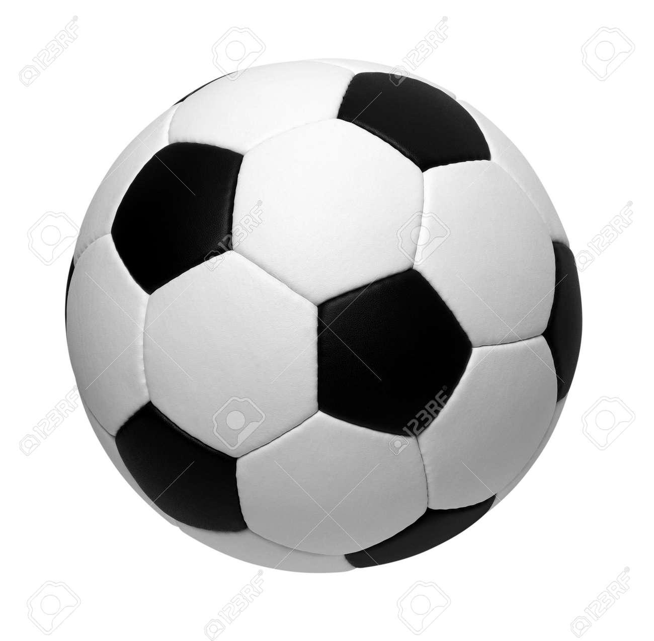 un ballon de soccer isol? sur blanc Banque d'images - 49026050