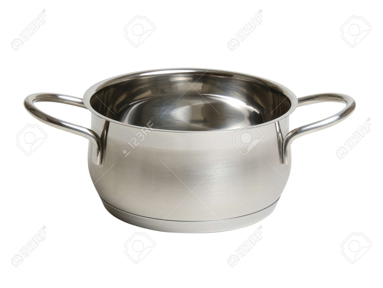 steel cooking pot isolated on white - 50767868
