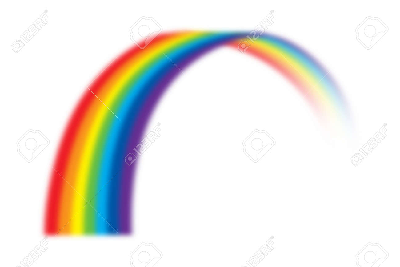 illustration of rainbow on white Banque d'images - 52590308