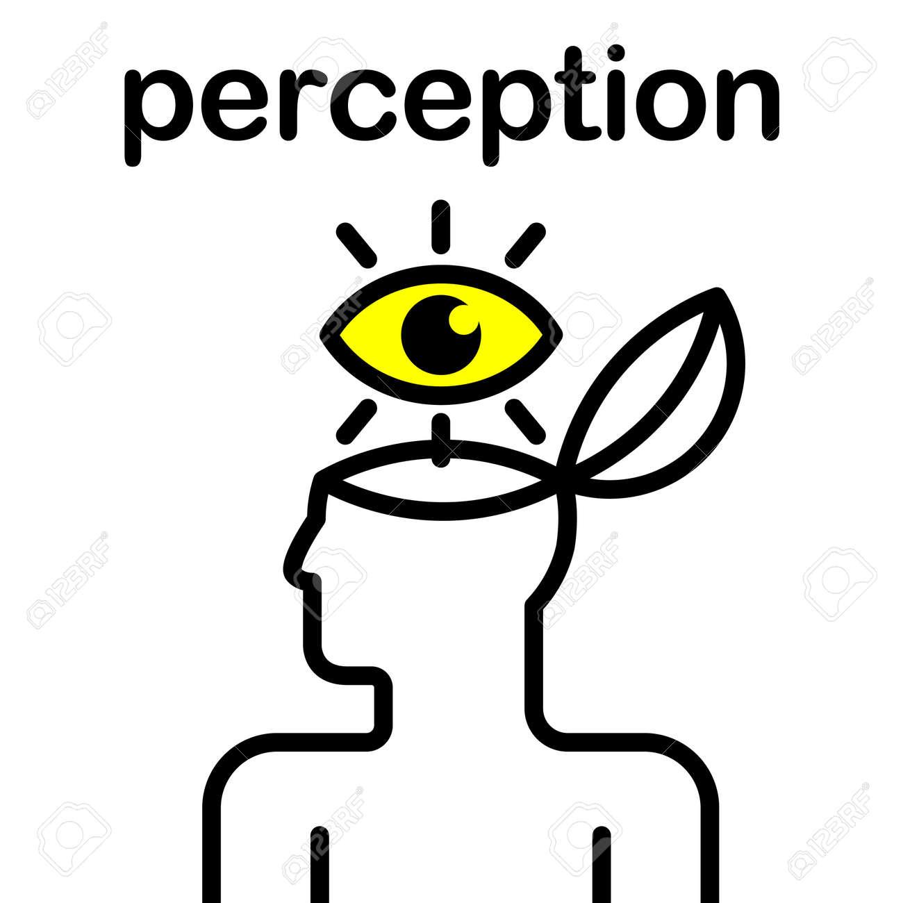 illustration of eye in stylized human head Stock Vector - 12048434