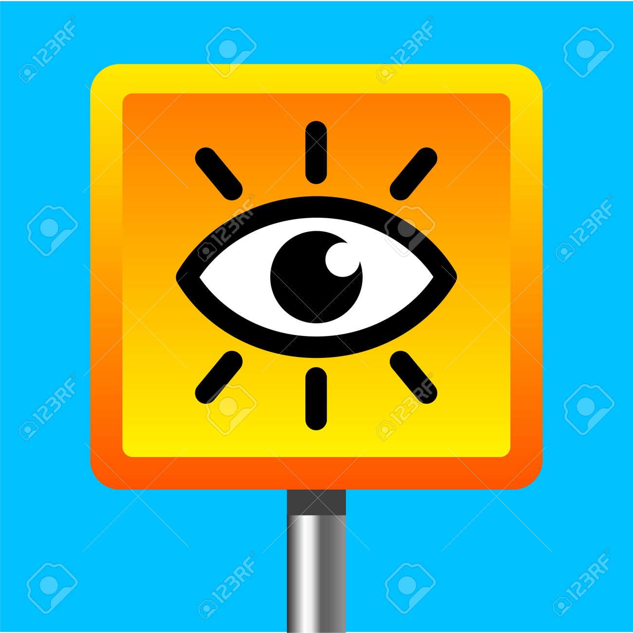 video surveillance camera sign Stock Vector - 12345169