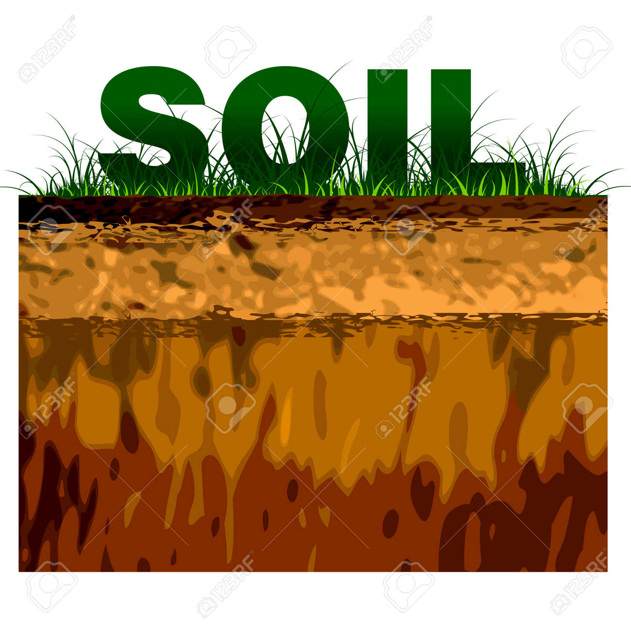 structure of soil cut on black royalty free cliparts vectors and rh 123rf com soil layers clipart soil clipart gif