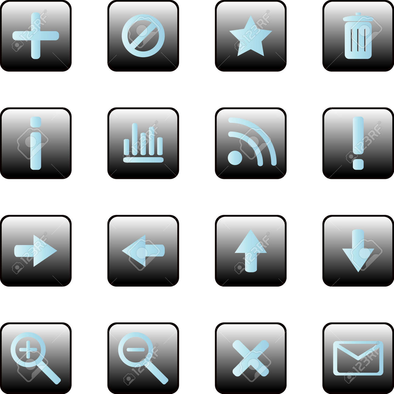 Collection of vector icons Stock Vector - 13543533