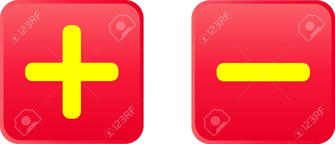 Glossy vector button - plus Stock Vector - 13543694