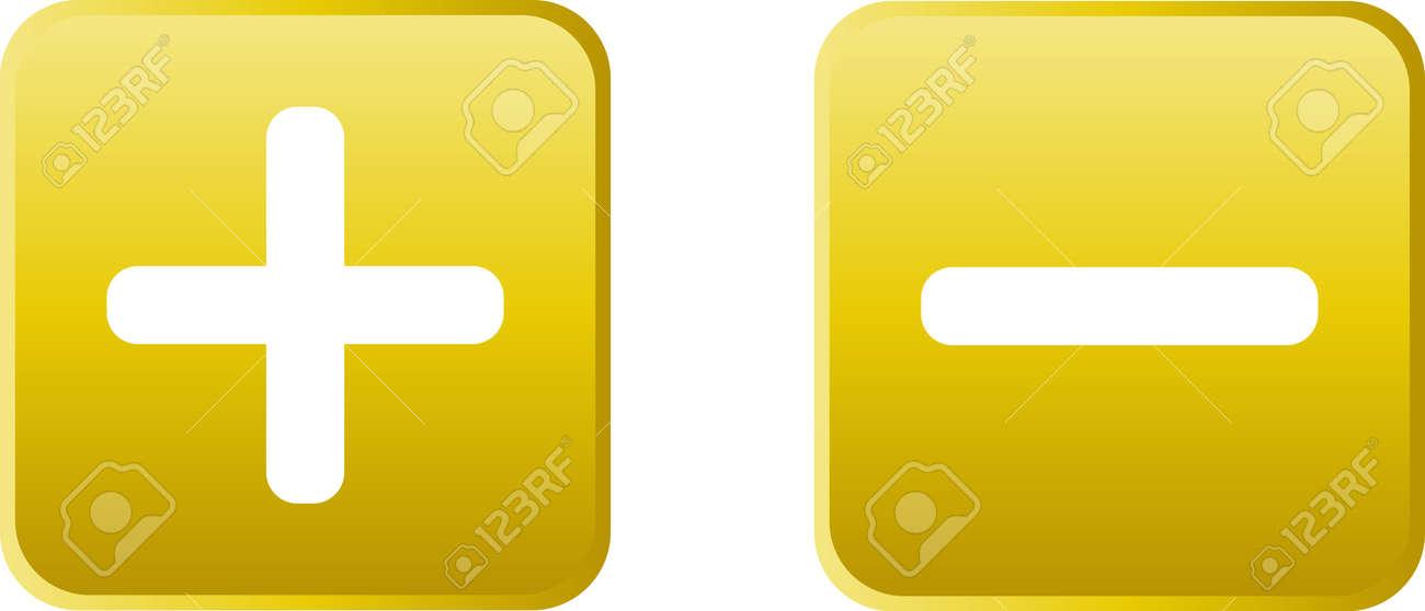Glossy vector button - plus Stock Vector - 13543700
