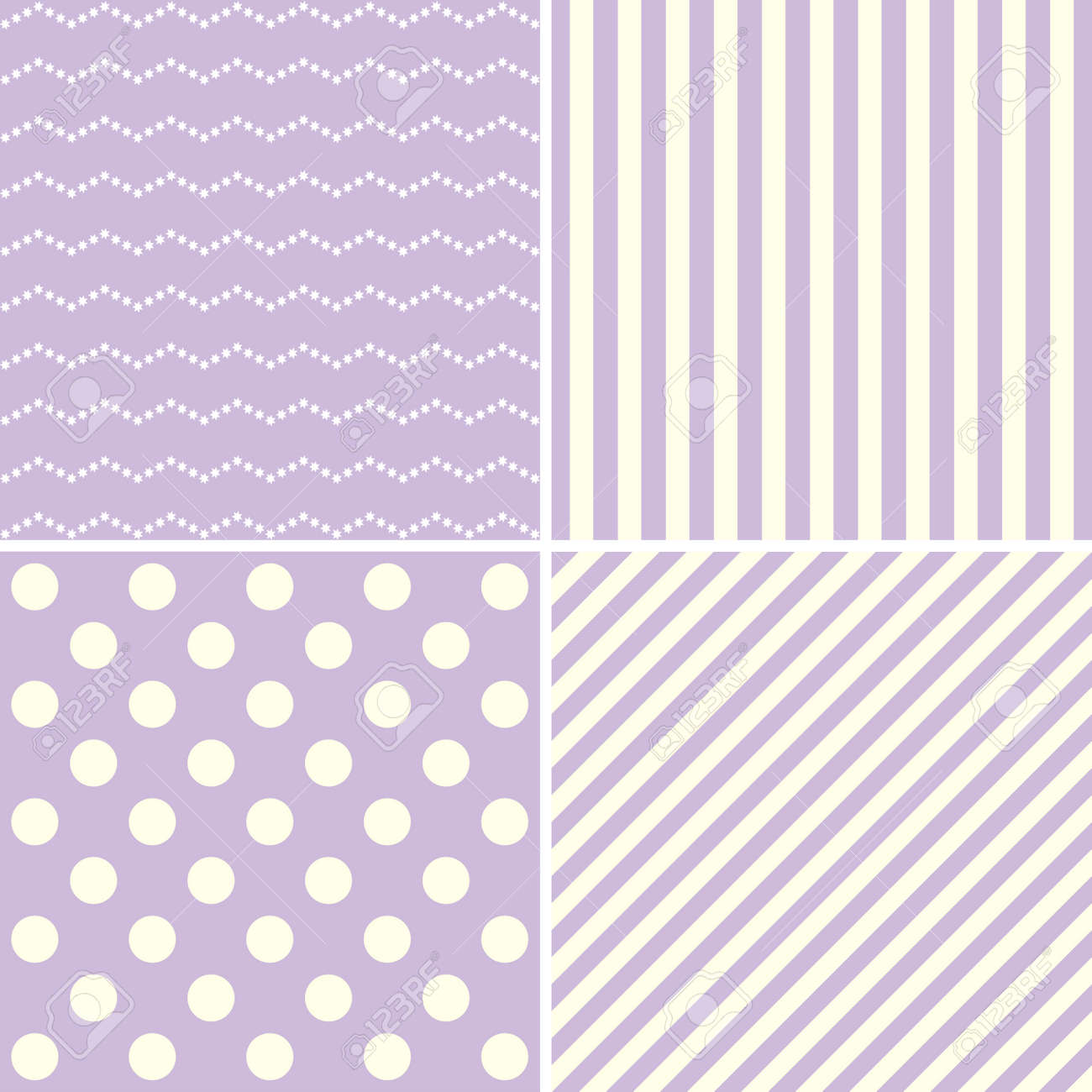 Set Of Four Cute Retro Backgrounds In Pastel Colors For Baby Stock Photo Picture And Royalty Free Image Image 46448440