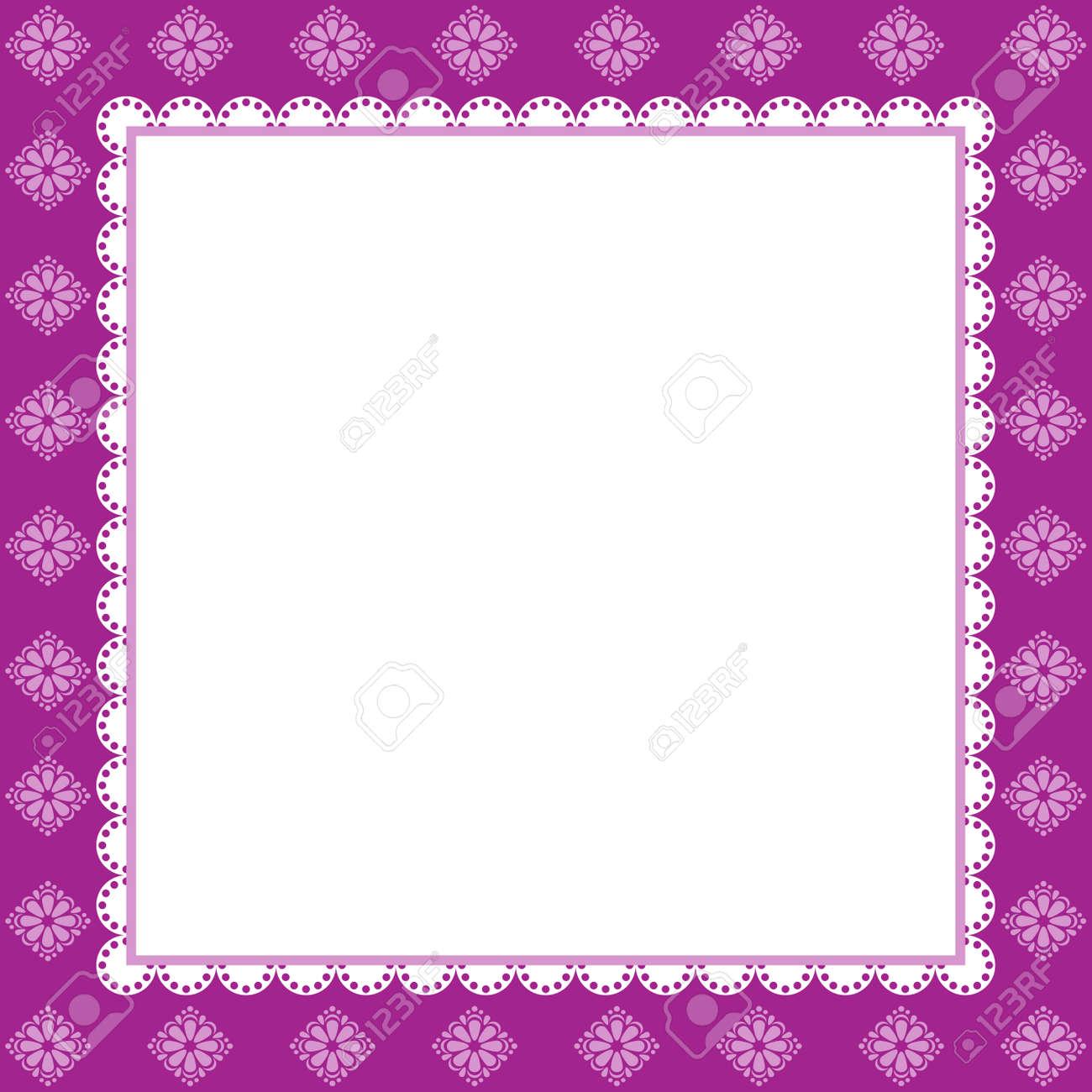 Vintage Greeting Card Template. Invitation. Lilac Illustration Stock ...