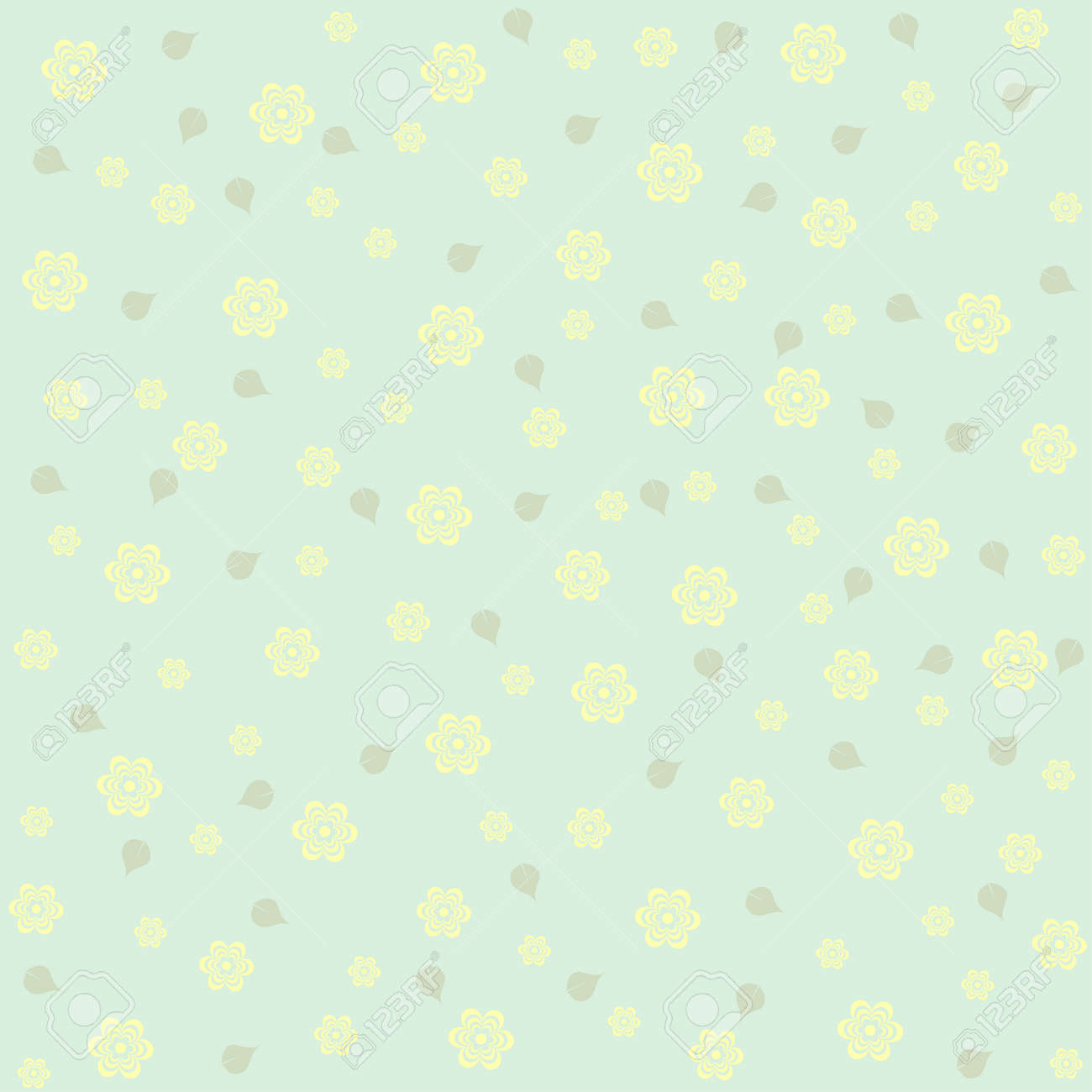 Seamless Pattern With Flowers It Can Be Used For Wrapping Paper