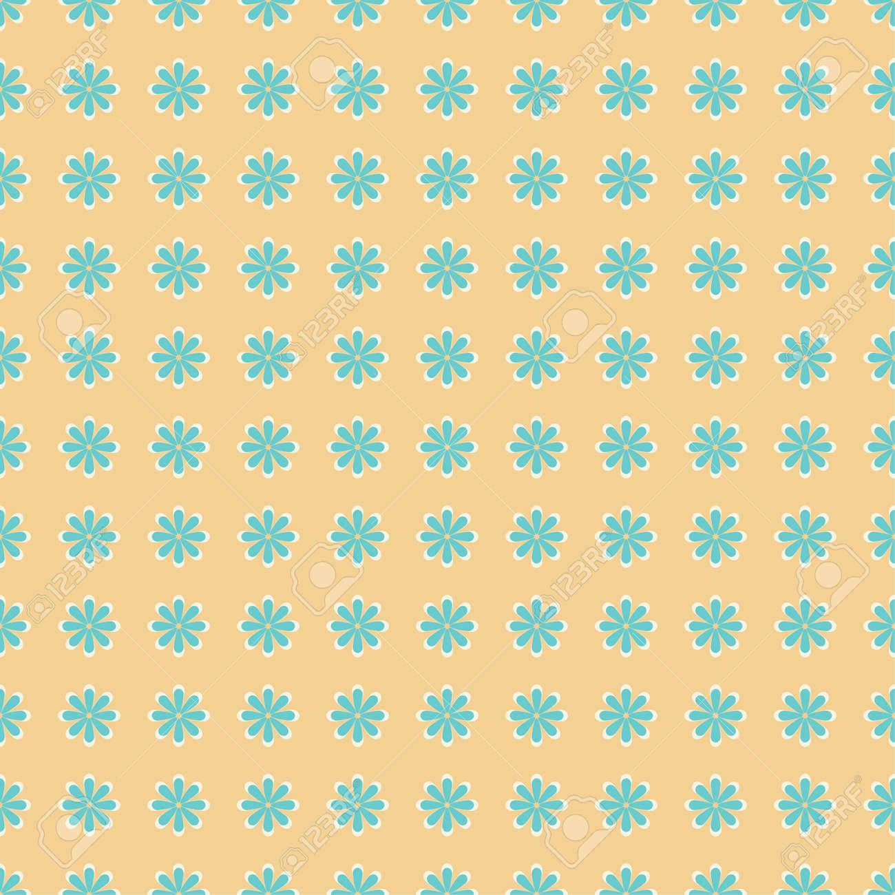 小規模な花でシンプルかわいいパターンベクトルのイラスト素材