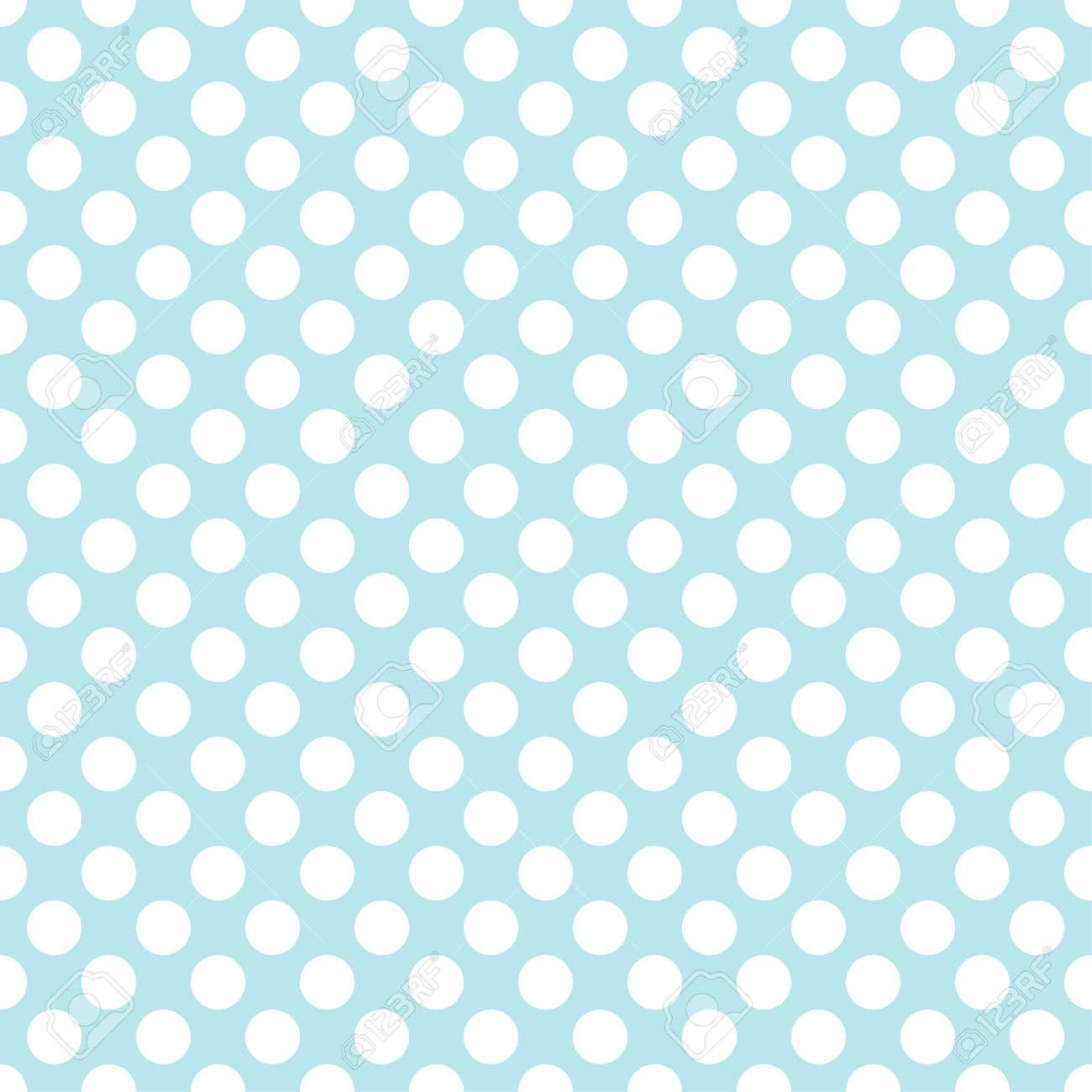 Blue Polka Dot Background Seamless Pattern Vector Royalty Free