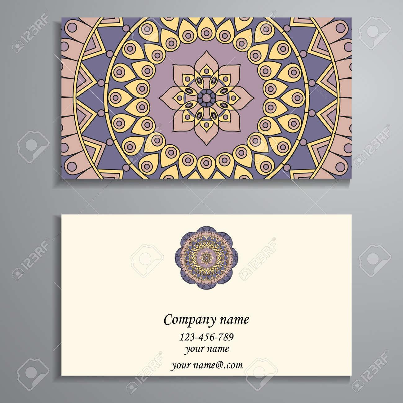 Business card vintage decorative elements ornamental floral business card vintage decorative elements ornamental floral business cards oriental pattern vector colourmoves