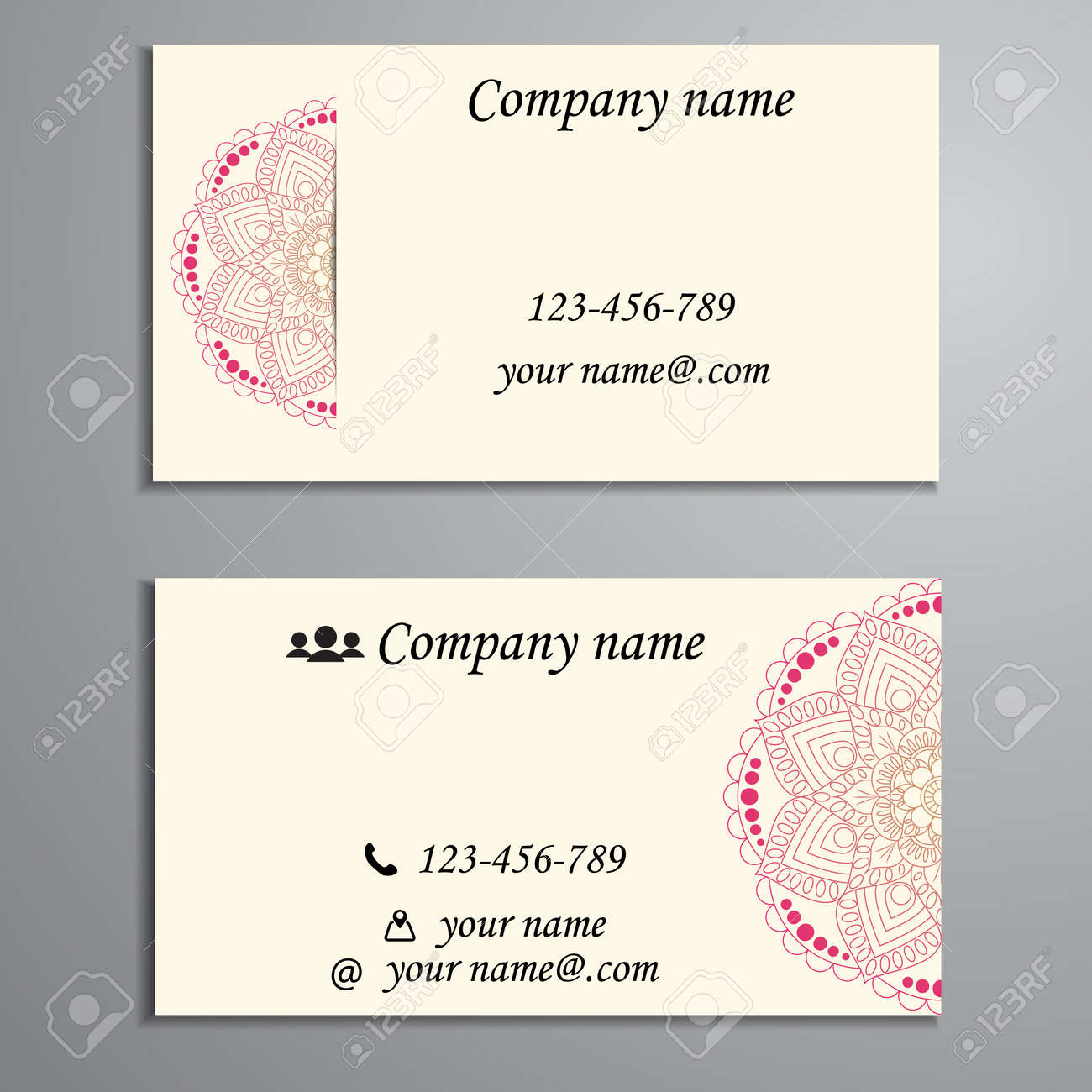 Invitation, Business Card Or Banner With Text Template. Round ...