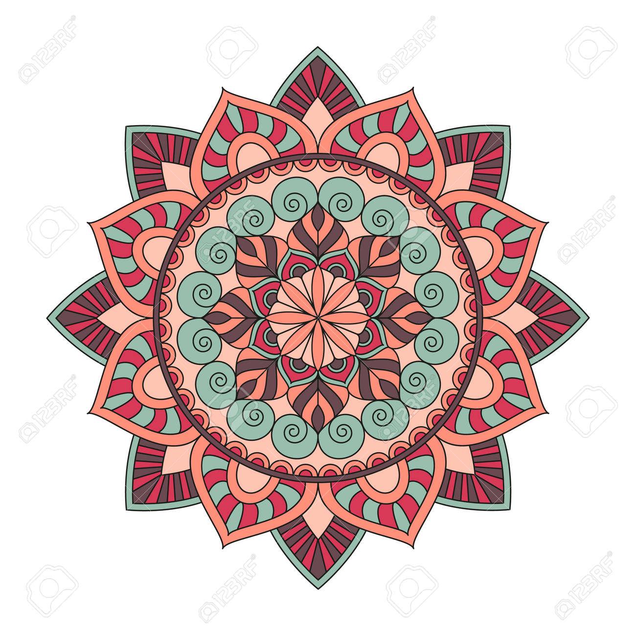 Fleur Mandalas Elements Decoratifs Vintage Oriental Pattern