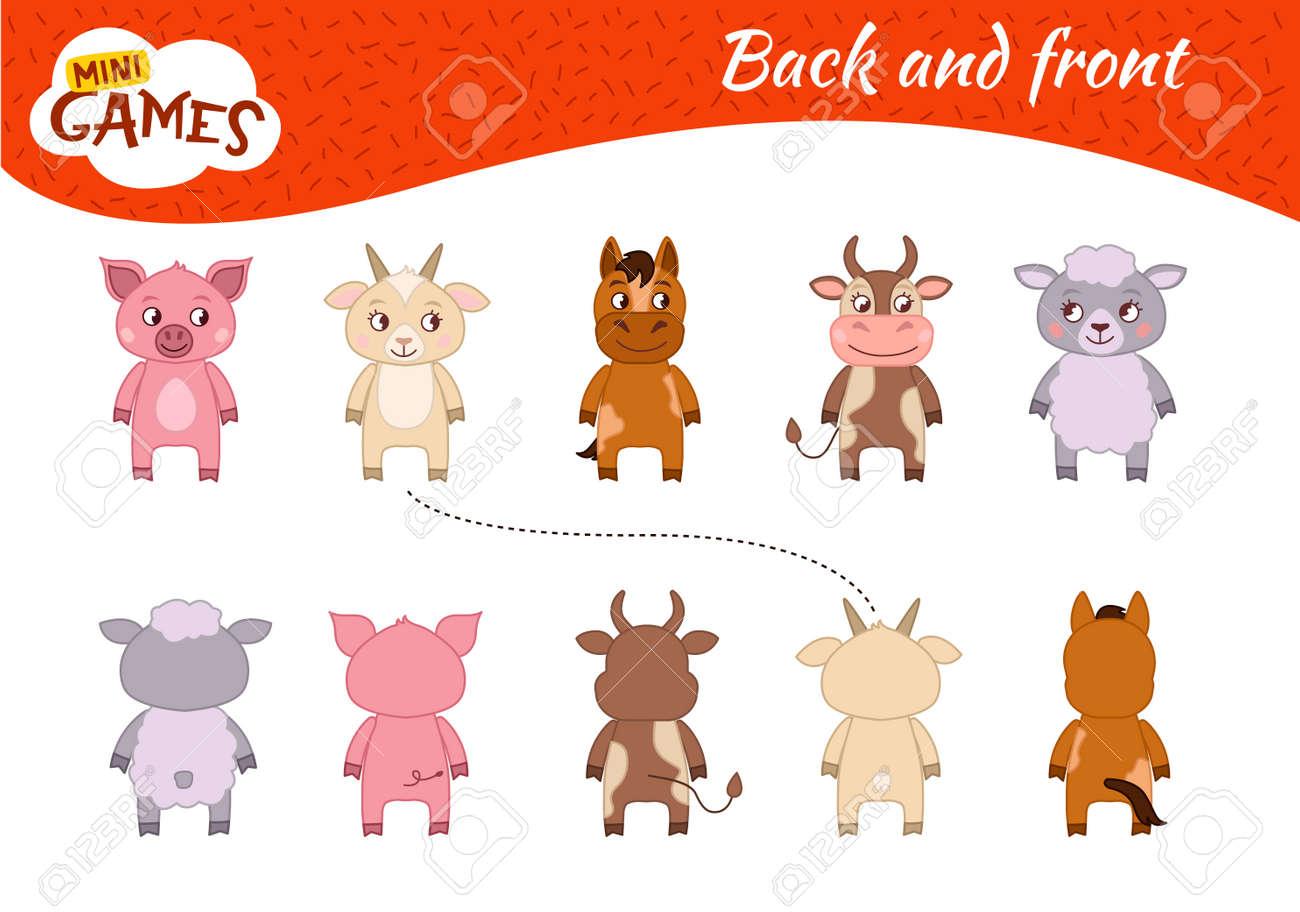 Set Kid Sketch Farm Animals Cartoon Stock Vector (Royalty Free) 424562554