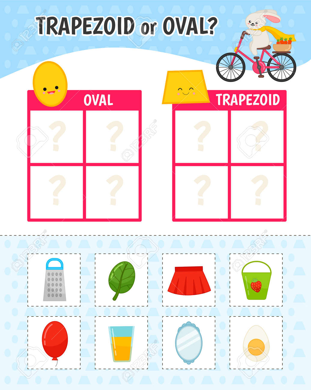 Educational game for children with pictures. Kids activity sheet...