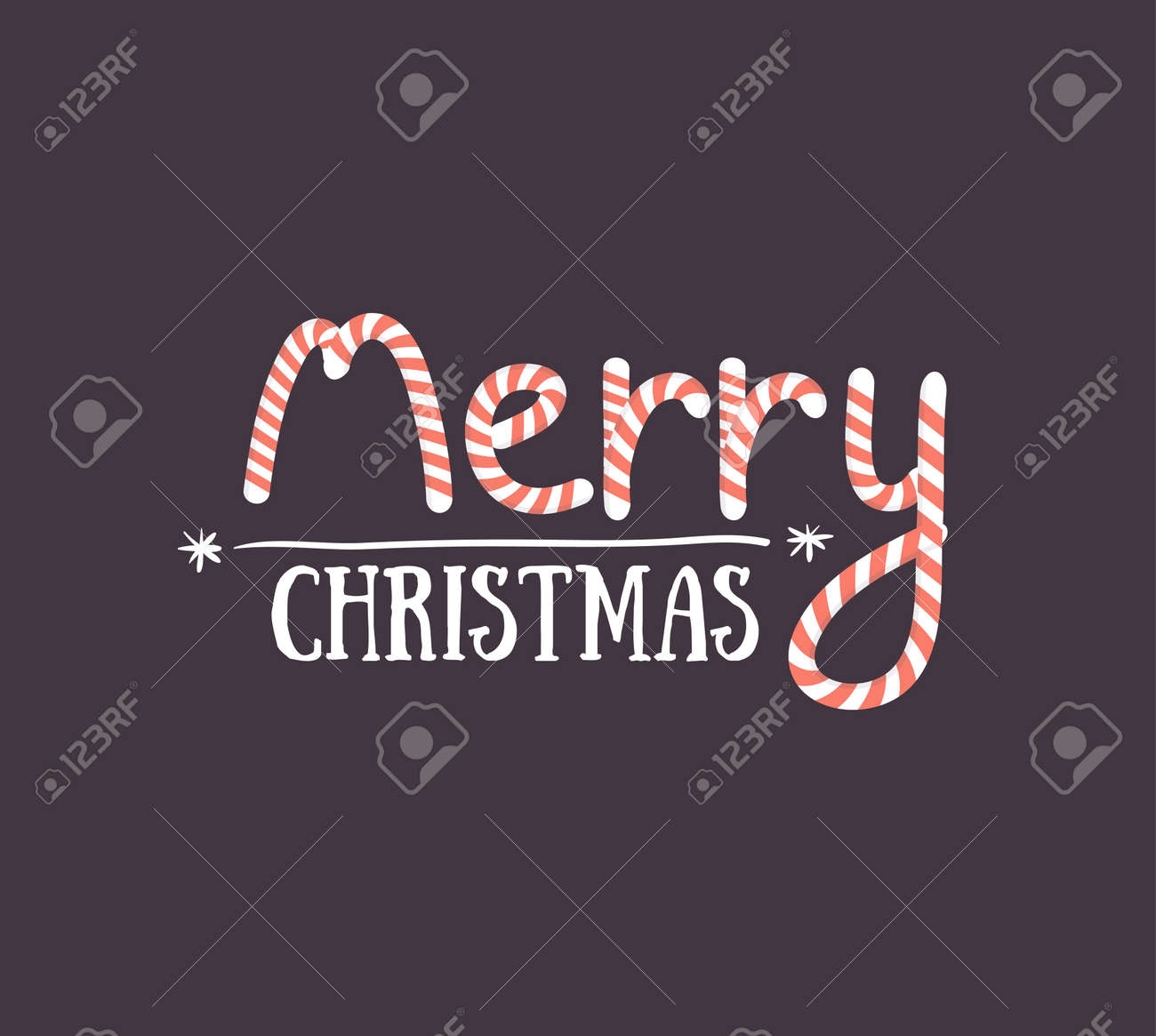 Merry Christmas Greeting Card On Dark Background Season Greeting