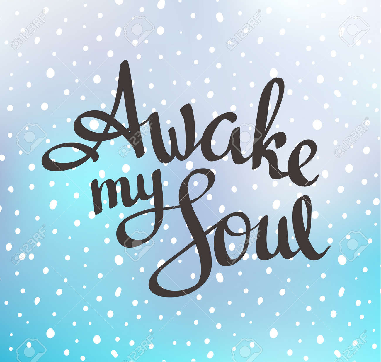 """C Stock Quote Motivation Quote Poster  """"awake My Soul""""vector Hand Drawn"""