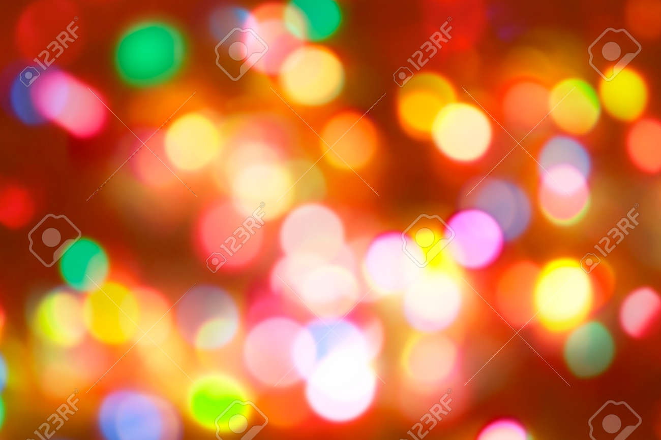 Blurred bright autumn background. Abstract colorful bokeh - 155479782