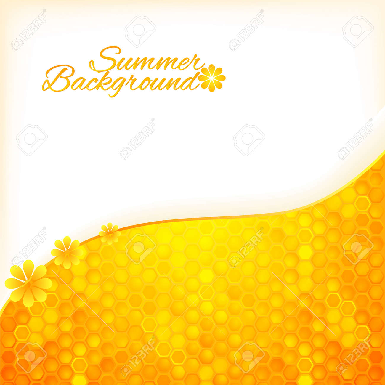 Abstract summer background with honey texture Stock Vector - 19870898